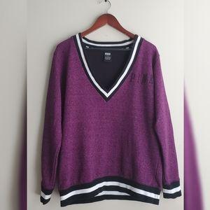 Pink Victoria's Secret Varsity Sweatshirt